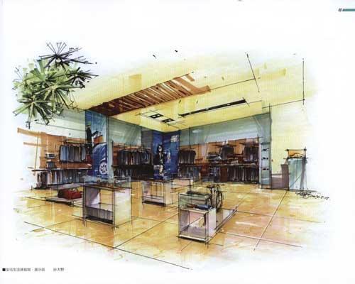 卓越手绘商业空间效果图